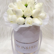 WHITE roses white box - image white-rose-1-180x180 on http://tranquilblooms.com.au