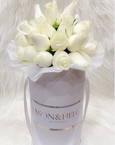 WHITE roses white box - image white-rose-1 on http://tranquilblooms.com.au