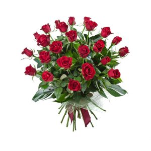 10 roses and oriental lilies - All rose colours available - image 24redroses-300x300 on https://tranquilblooms.com.au