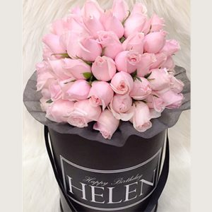 tranquil blooms Blush Pink Roses Black box