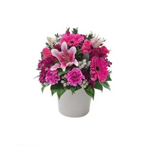 tranquil blooms Berry Delight Bright - Mixed Arrangement in a Ceramic Pot