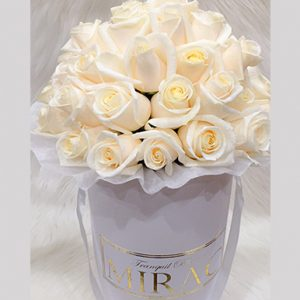 Champagne Roses White Box