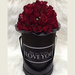tranquil blooms Red Roses Black Box