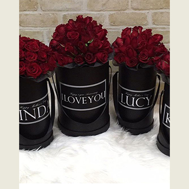 tranquil blooms Red Roses Black Box 1